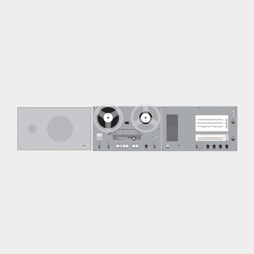 Braun audio components designed by Dieter Rams