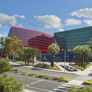 The Pacific Design Center, home to MOCA in West Hollywood.