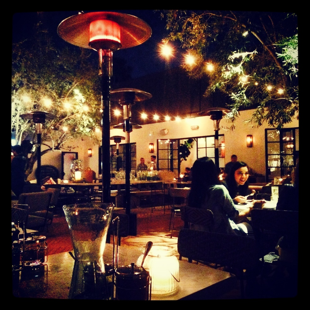 The beautiful patio at Gracias Madre.