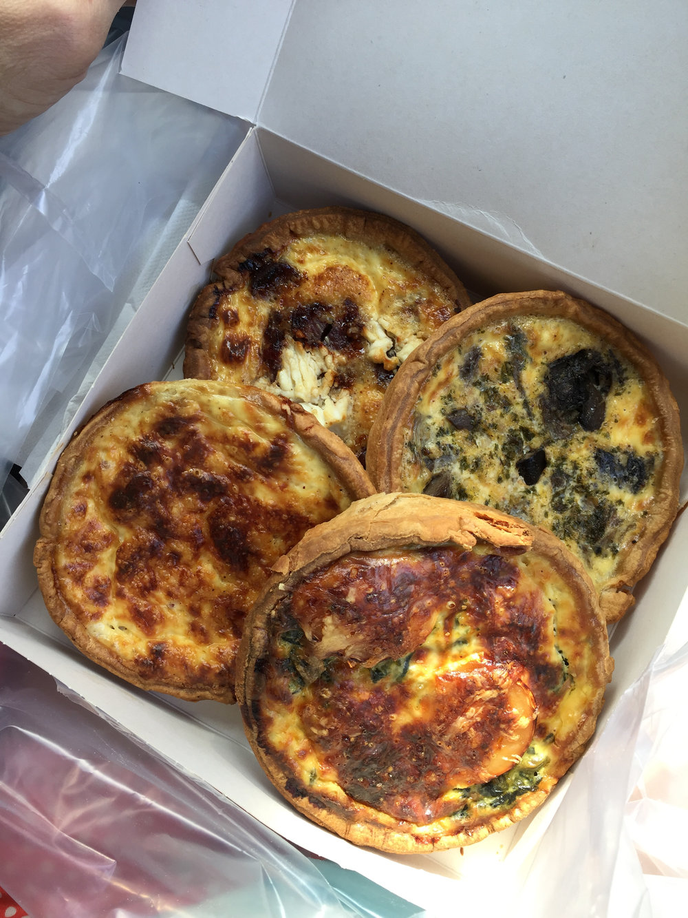 The most delicious quiches I've ever had from your average boulangerie.