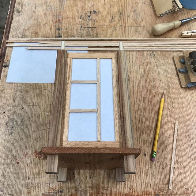 Making the lantern panels.