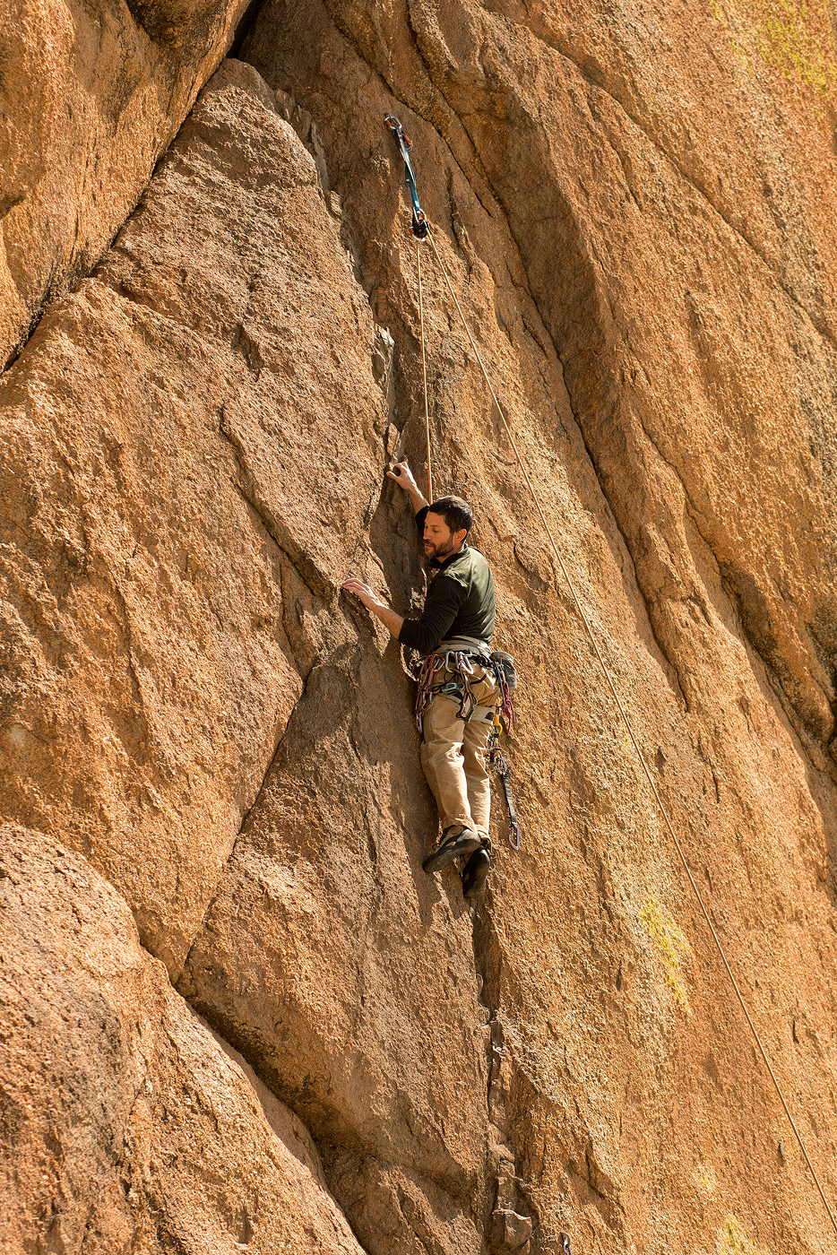 Mike rock climbing at Terelj National Park