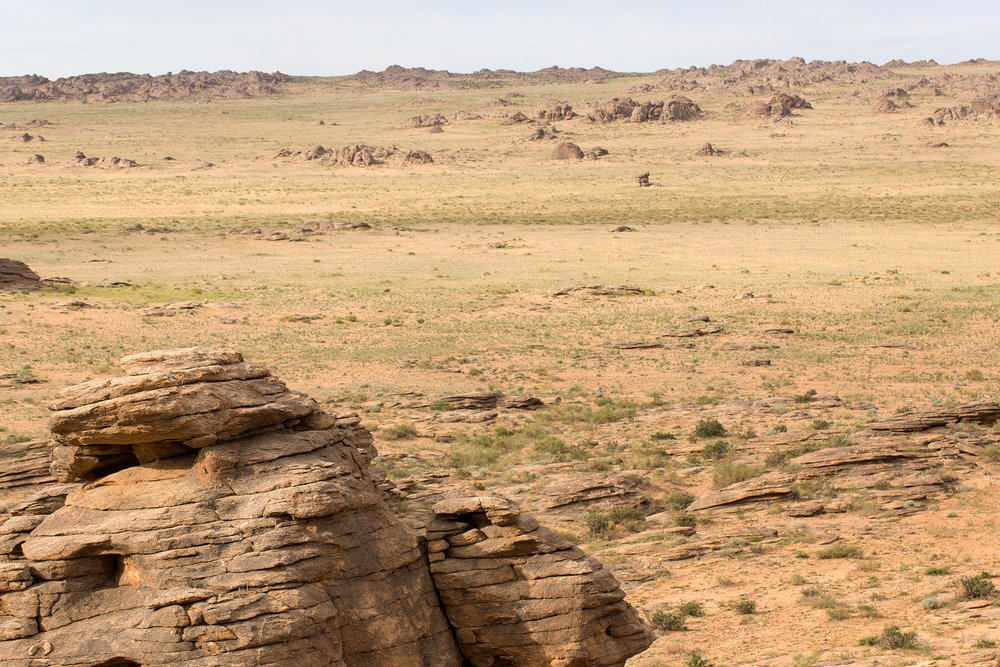Landscape of the East Gobi (Dornogobi)