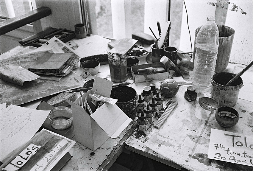 Joan Bennàssar studio, Mallorca, 2013