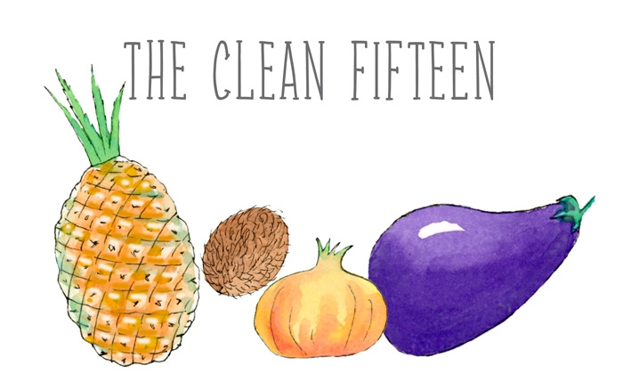 The Clean Fifteen - 2013 produce with the least pesticide and chemical residue