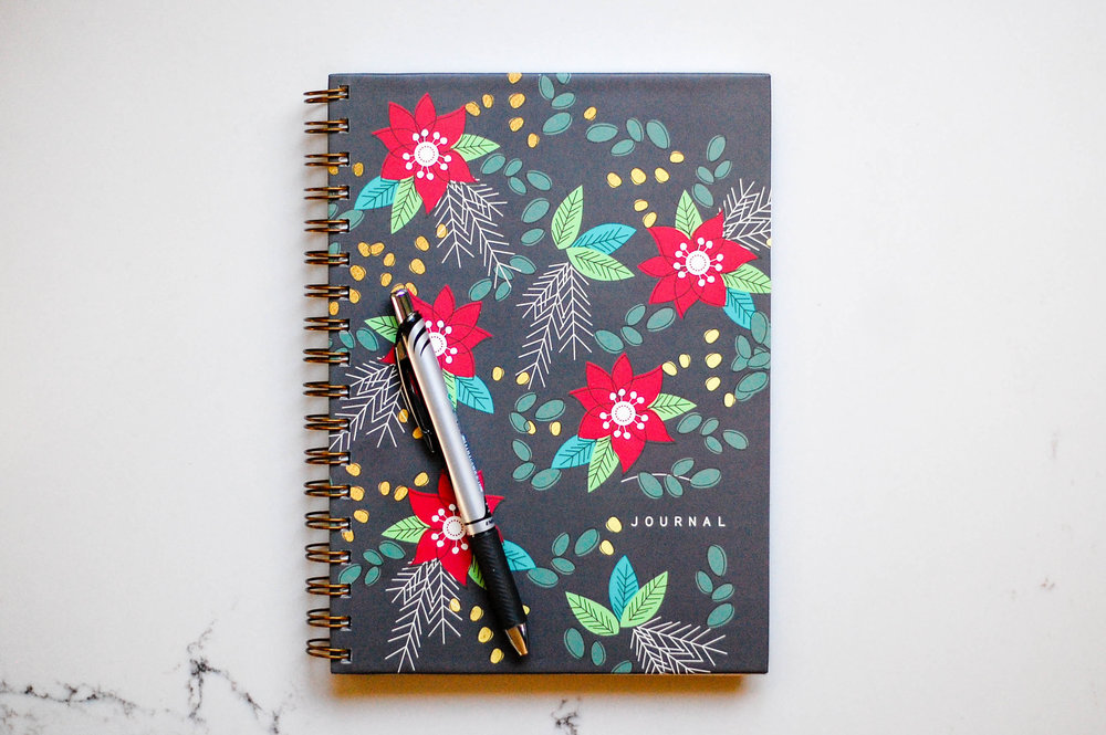 POINSETTIA Hard Cover Journal | $25
