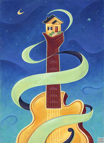 jazz concert poster art by Sean Kane
