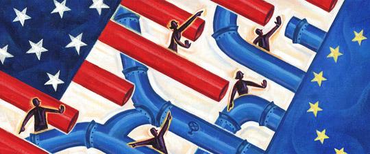 information pipeline art by Sean Kane