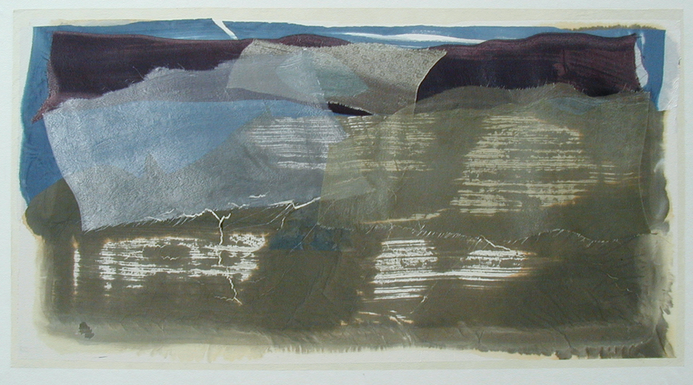 """Mountains & Sea"" – Maroon, Blue & Tan, 2003"
