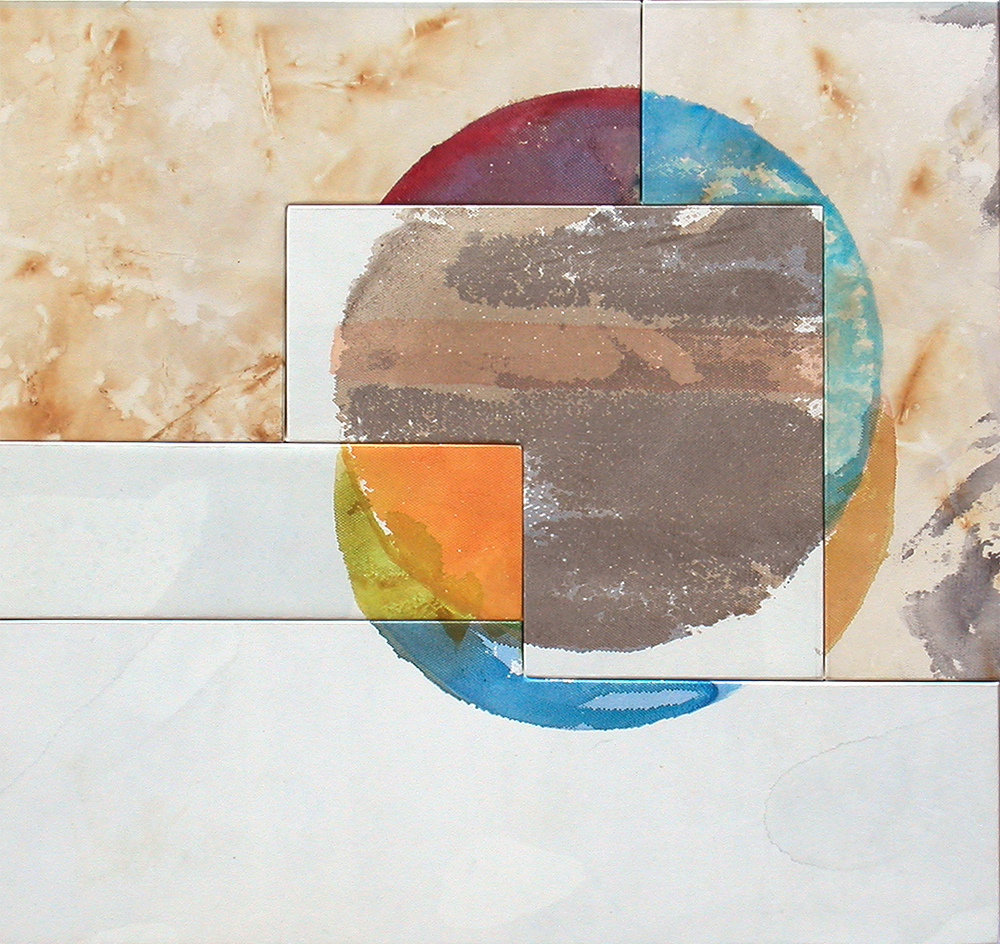 Tondo (Broken Circle) 5 Panels (KK), 2005