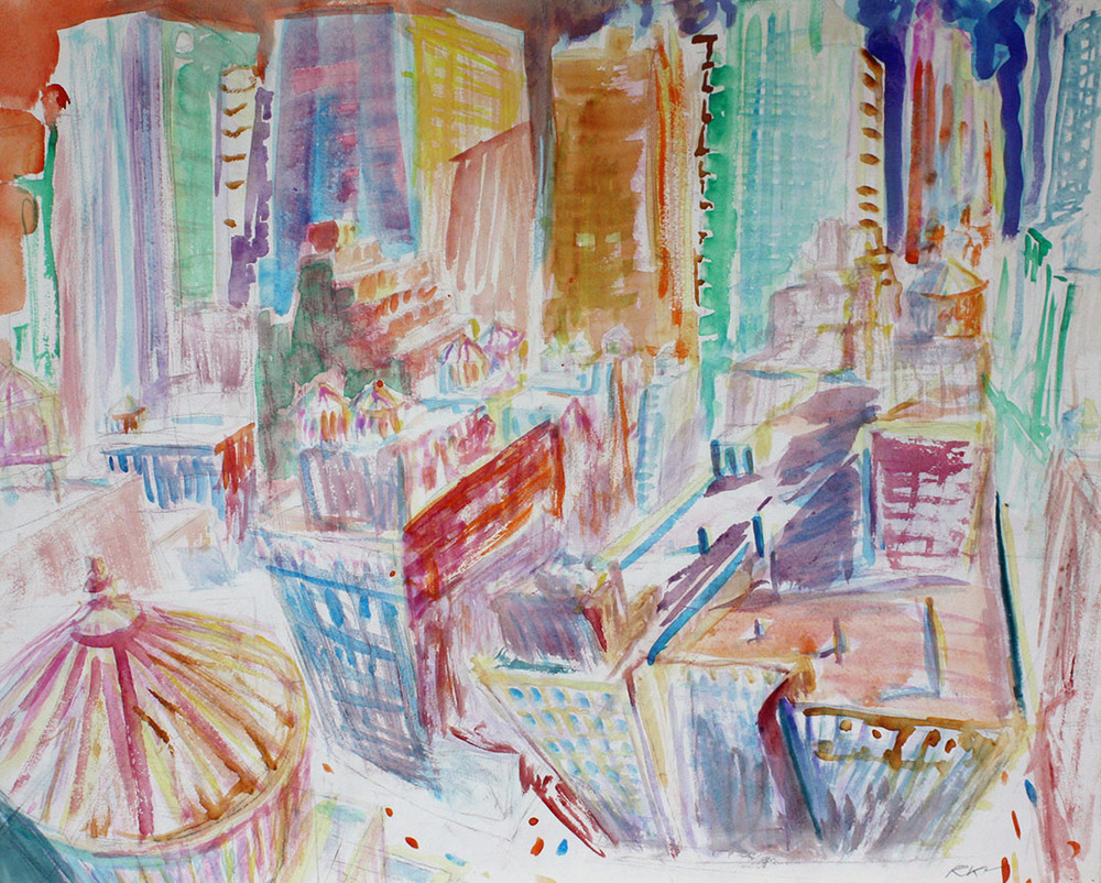 NYC Midtown (unfinished), 1988