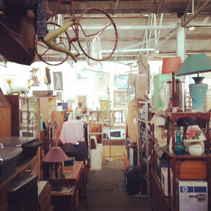 Junk shopping (not buying) in-between collections / deliveries / visits...