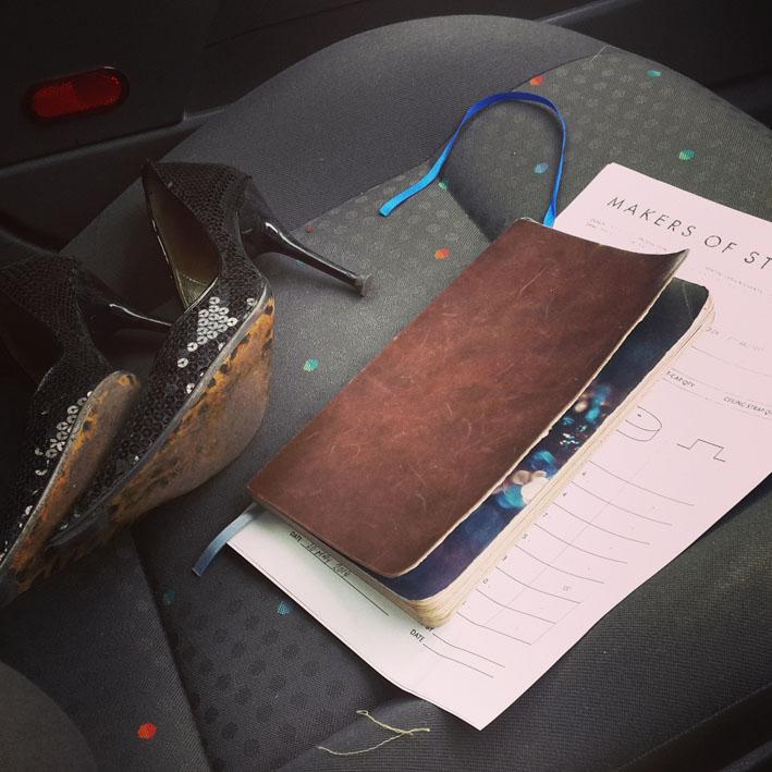 Life on the car passenger seat