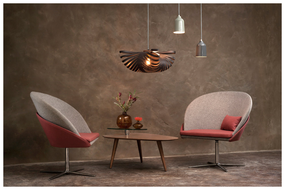 BOKU large chairs / small CLOUD in Matt Dark Grey / CONES in Light Grey & Dove Grey