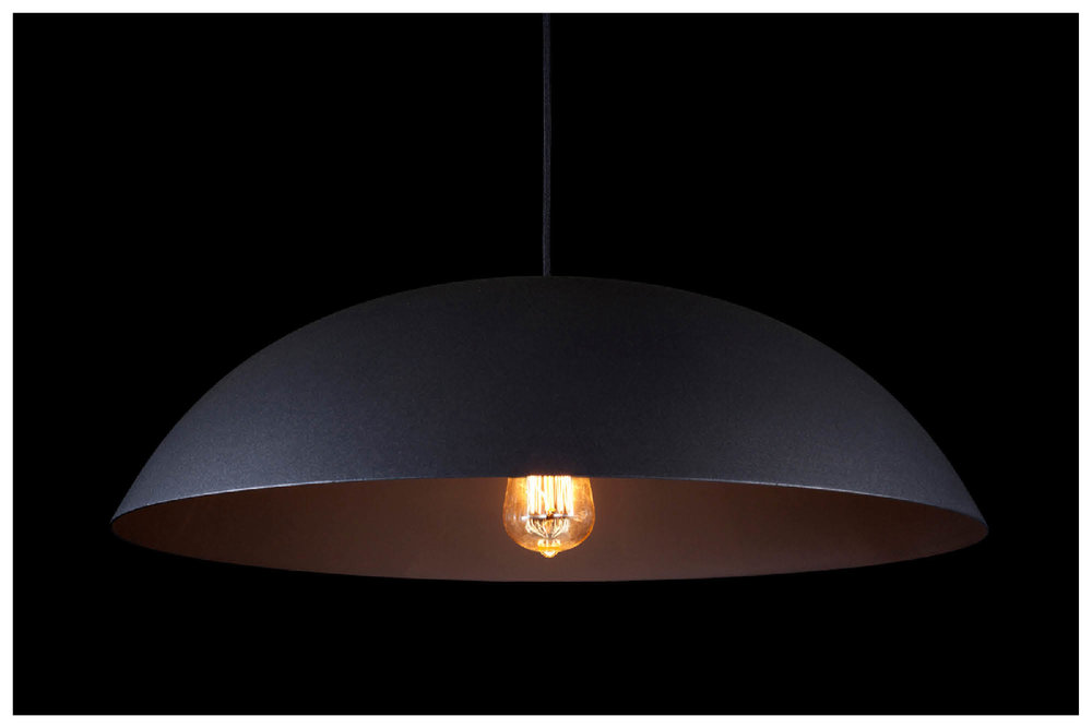 DOME lamp with Matt Dark Grey exterior / BULB: Vintage IncandescentTeardrop Squirrel Cage filament