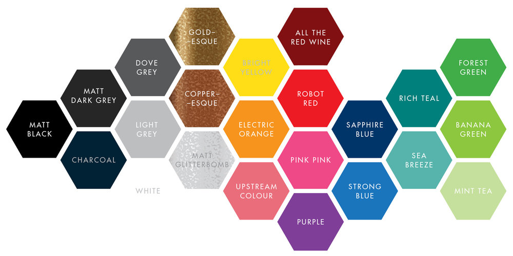 COLOUR COLOUR COLOURpowder-coating colour options