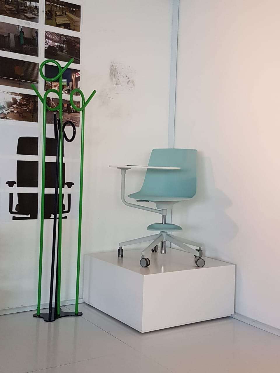 Coat Rack by ON&IN  |  chair by INFINITI   BELOW   clock by MAN&WIFE