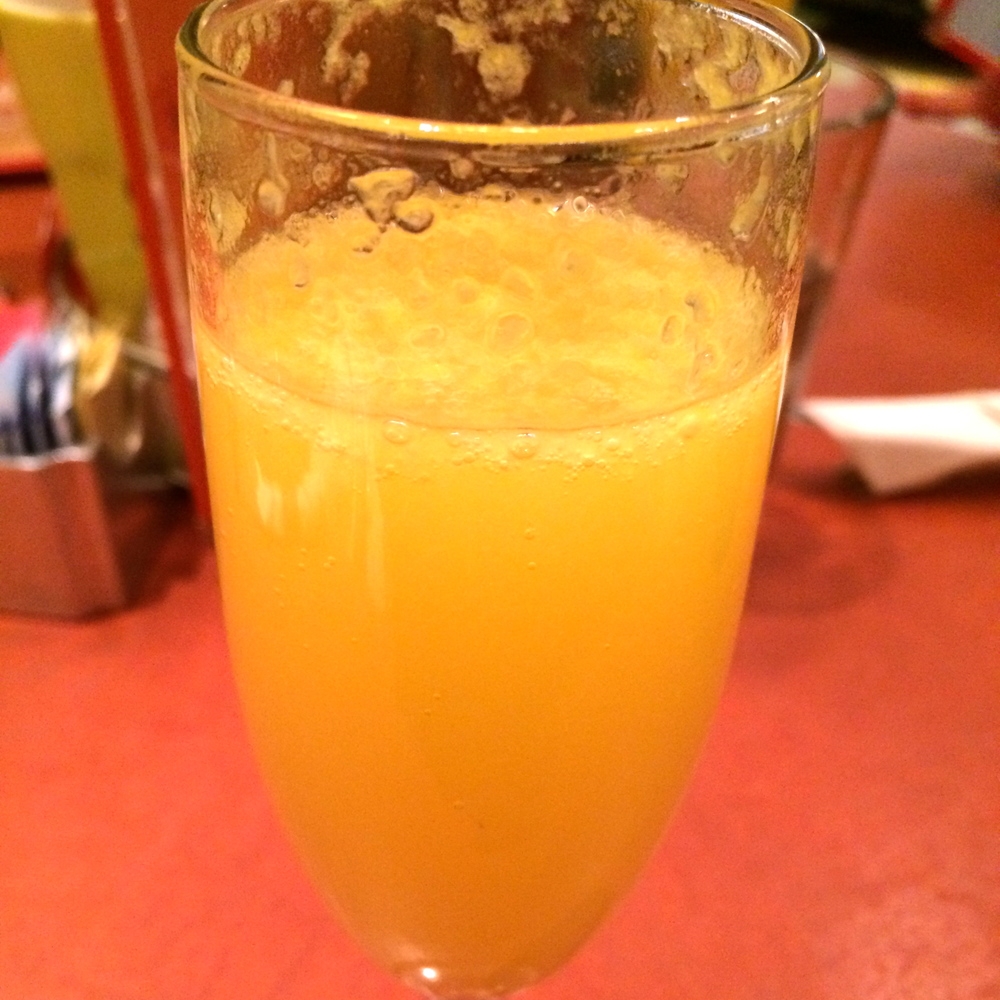 Mimosa madness. See all that pulp? Sad.