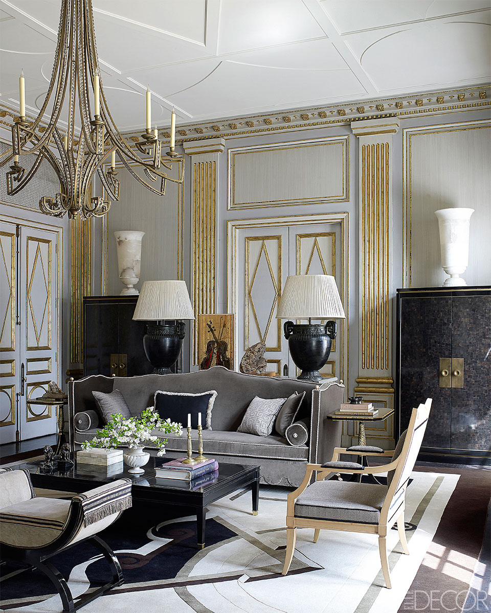 16 Stunning French Style Living Room Ideas: Feeling Bookish: Jean-Louis Deniot Interiors...