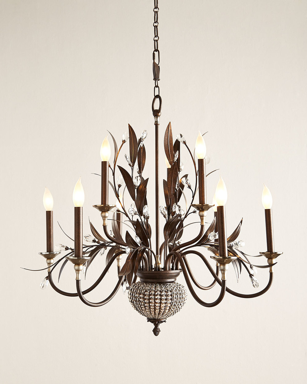 Awesome As a counterpoint to the wild zebra stripes I um loving this vintage inspired chandelier In the style of Italian tole this beautiful light fixture will