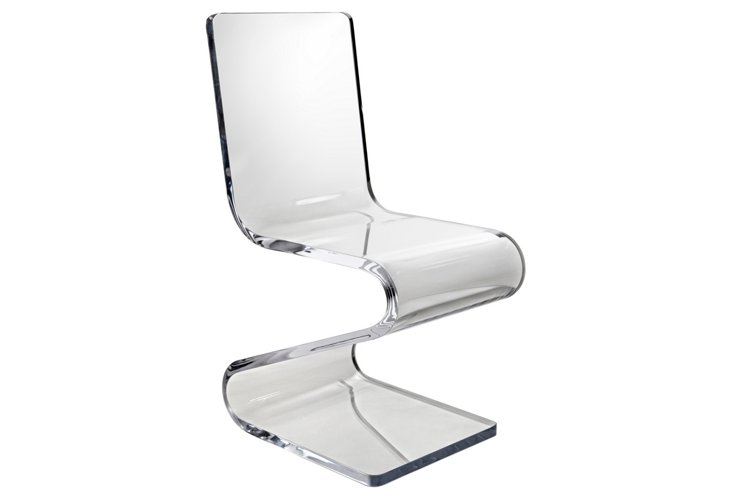 Acrylic Z-Chair  via  OKL  or  Amazon