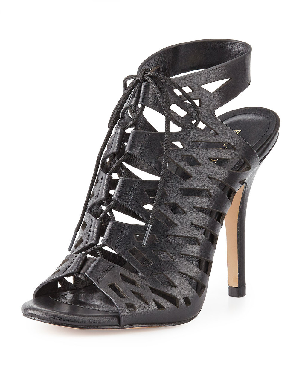 POUR LA VICTOIRE LASER-CUT SOFT LEATHER SANDAL, BRASS was $342 now $142.40