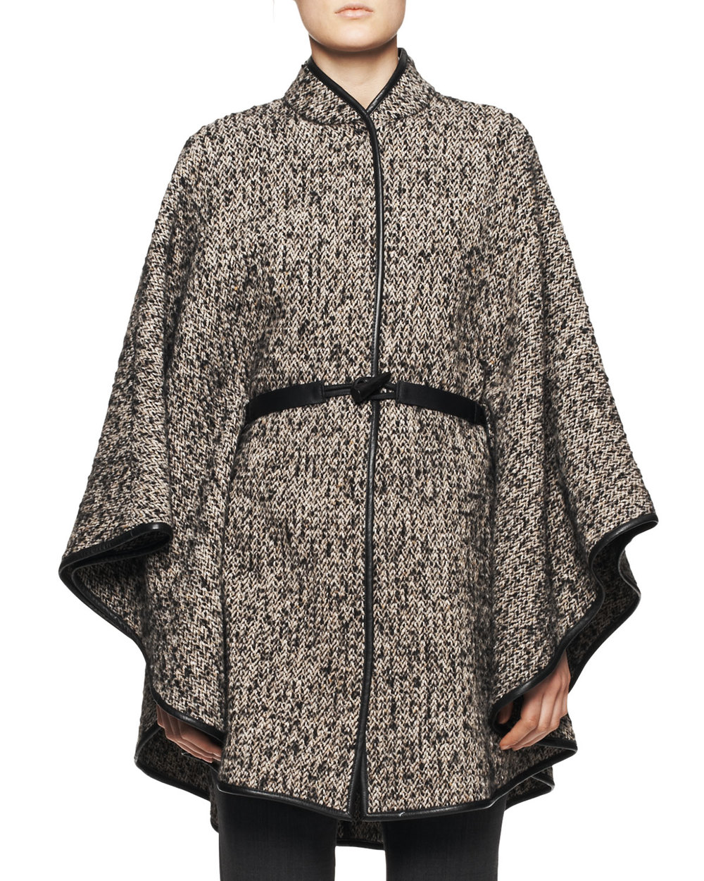 ETRO LEATHER BELT TWEED PONCHO was $2420 now $1420.40