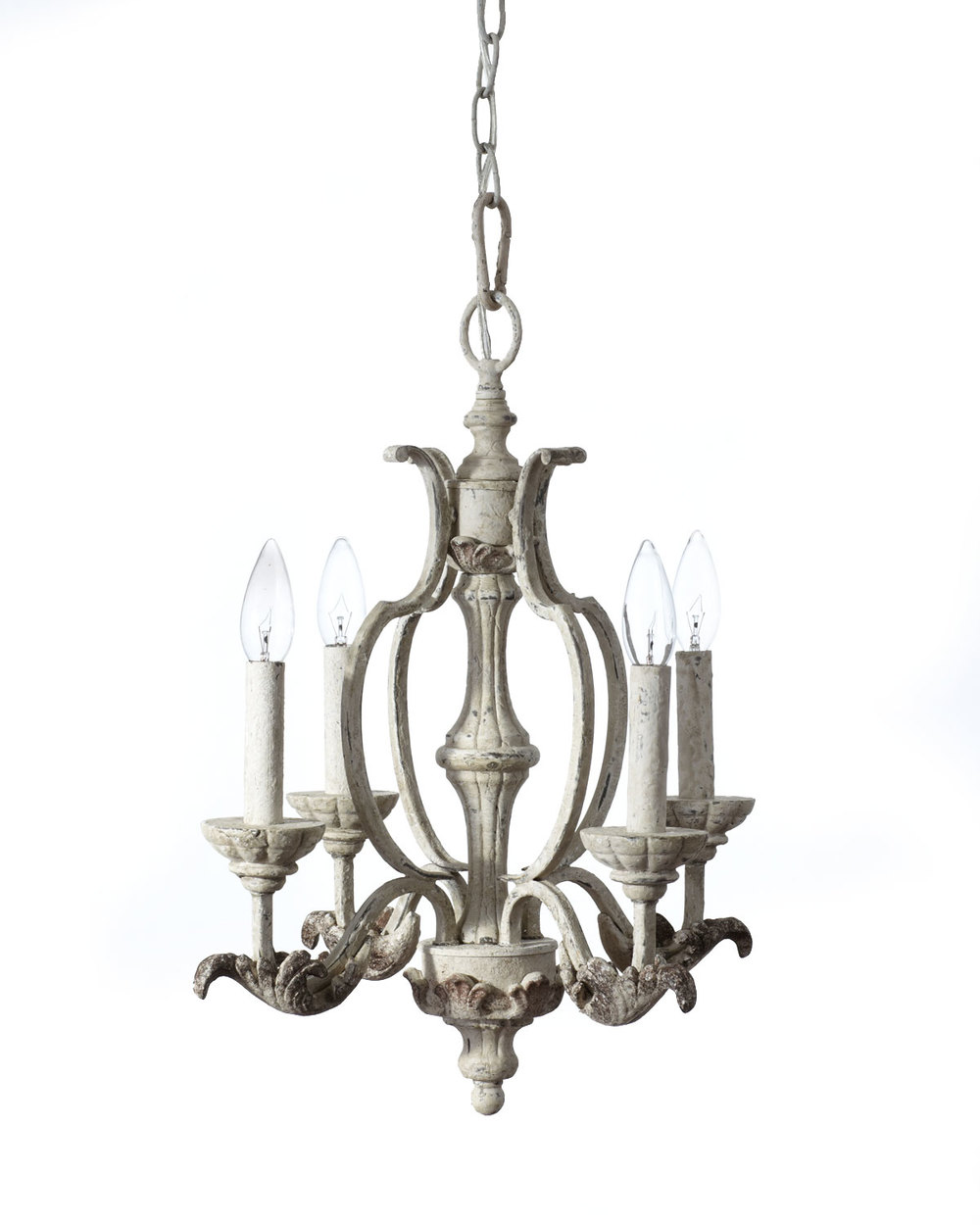 Trend A pretty chandelier in a delicate gray patina Dreamy