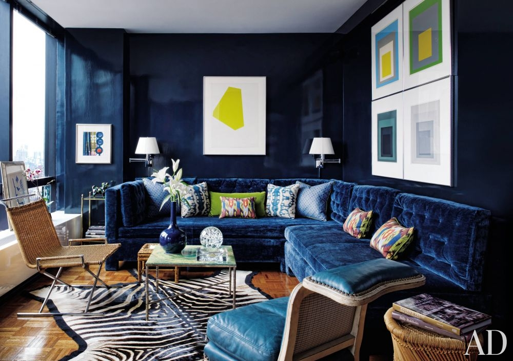 Get The Look Bold Blue Velvet Sofa Franki Durbin