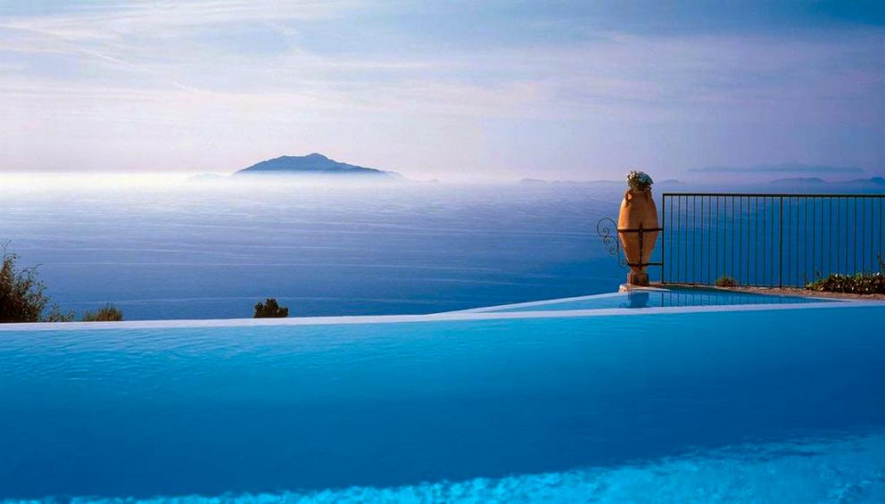 Infinity Pool at Caesar Augustus Hotel Italy