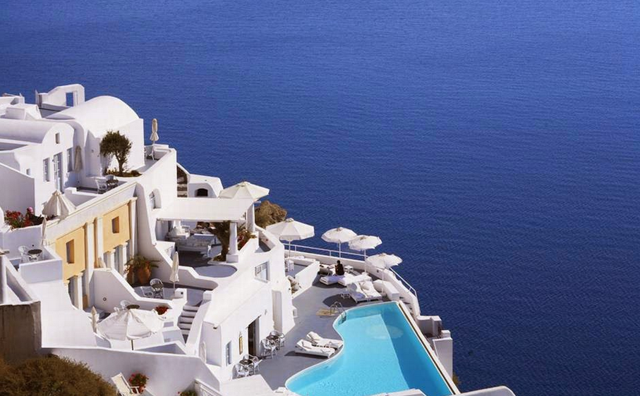 Infinity Pool at Katikies Hotel, Santorini, Greece