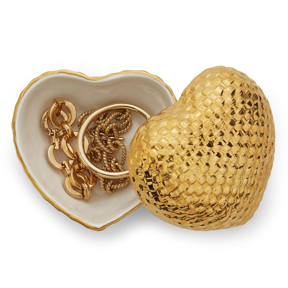 Aerin Woven Heart Box