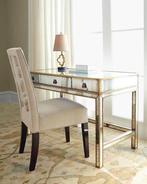 John Richard Mirrored Vanity Desk. Get the Look  The Glamorous Feminine Vanity   Desk      Franki Durbin