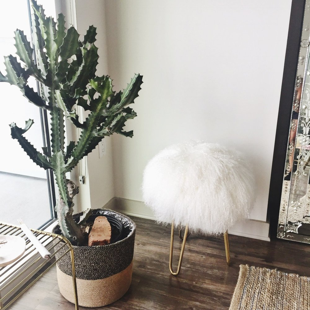 { Dallas Shaw's Nashville pied-à-terre featuring Mongolian wool accessories via Franki Durbin }