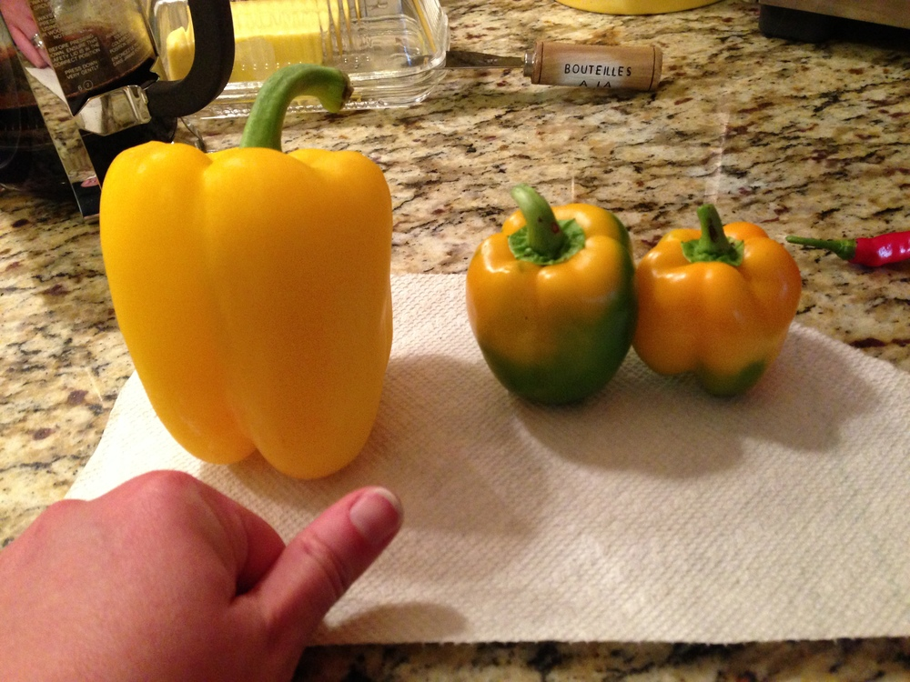 store bought vs organic bell peppers