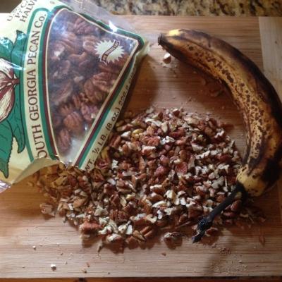 Georgia Pecans + Ripe Bananas = good excuse to make banana nut bread
