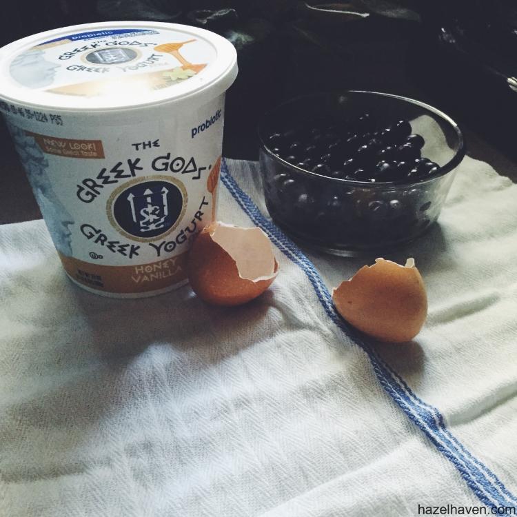 Blueberry Yogurt Pancakes | hazelhaven.com