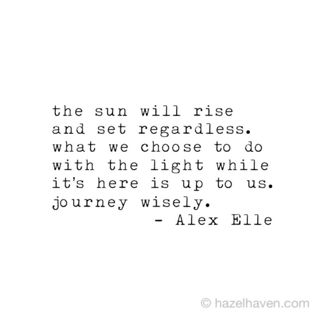 alex elle quote | hazelhaven.com