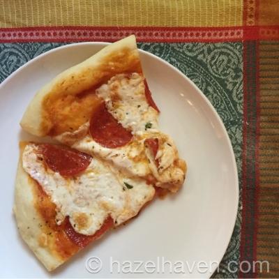 homemade pizza | hazelhaven.com