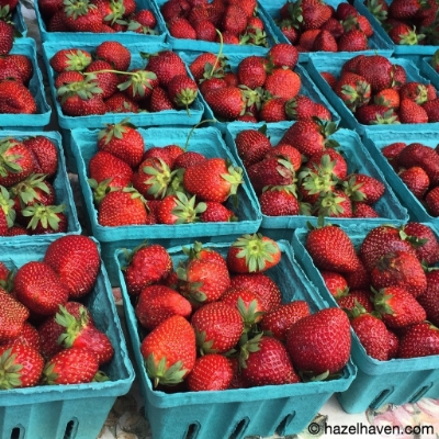 Strawberry Infused Water | hazelhaven.com