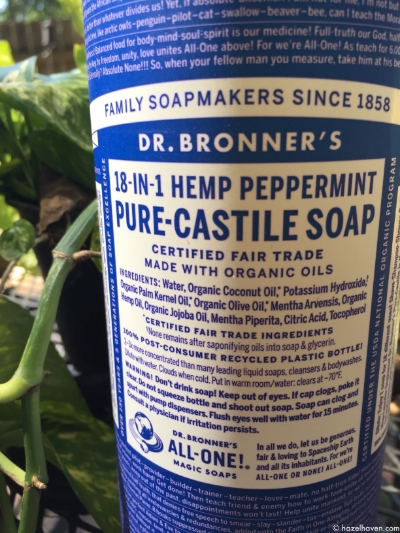 Top 5 Uses for Dr. Bronner's Soap | @hazelhaven