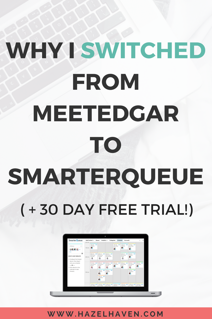 WHY I  SWITCHED  FROM   MEETEDGAR   TO SMARTERQUEUE