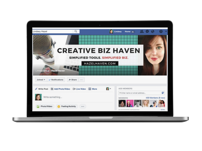 Join the creative biz haven via hazelhaven.com
