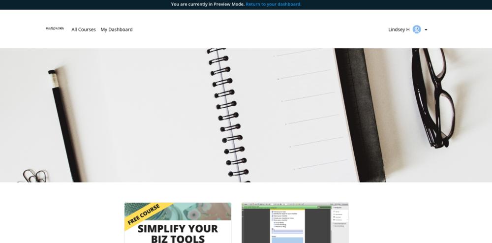Thinkific site design