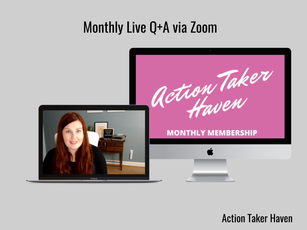 Join us in the Action Taker Haven a monthly membership for business owners! #onlinebusiness #actiontakerhaven #blogging