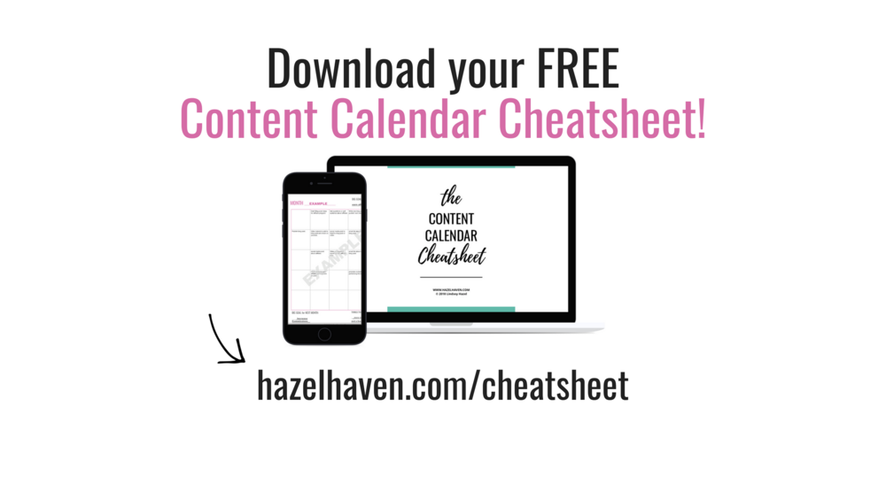 Download your FREE content calendar cheatsheet!