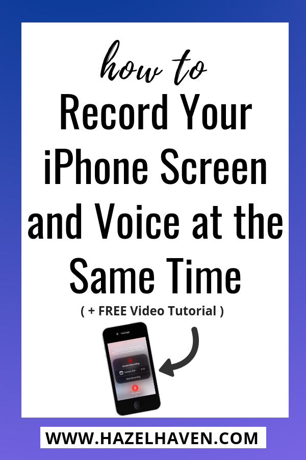 How to Record Your iPhone Screen and Voice at the Same Time    #screencast #iphonerecorder #recordyouriphone