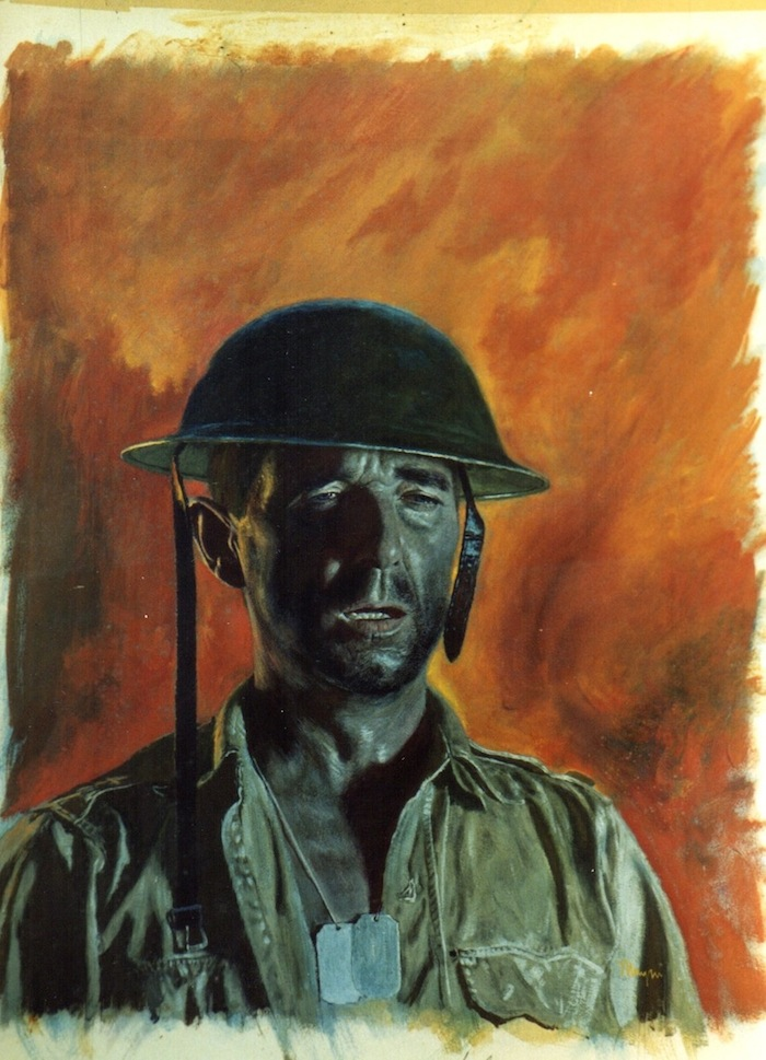 "for the cover of Combat, March, 1961, casein 23"" x 18"""
