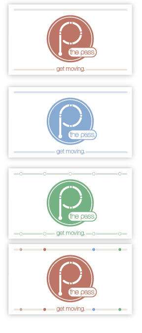 Before designing these, I examined the logo and thought about what I could expand upon. Noticing the circles, I started to think how I could incorporate them into the print material. Again these weren't really inspiring, but I felt like I was getting somewhere.