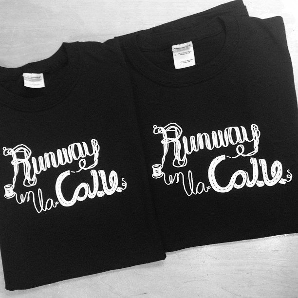 "Custom design and print t-shirts for ""Runway En La Calle"" event happening 10/12/2013, in San Antonio, TX. These shirts are the first in the line of design and prints by Essentials curated for a client, to the clients specifications/liking. The same design is used in their campaign."